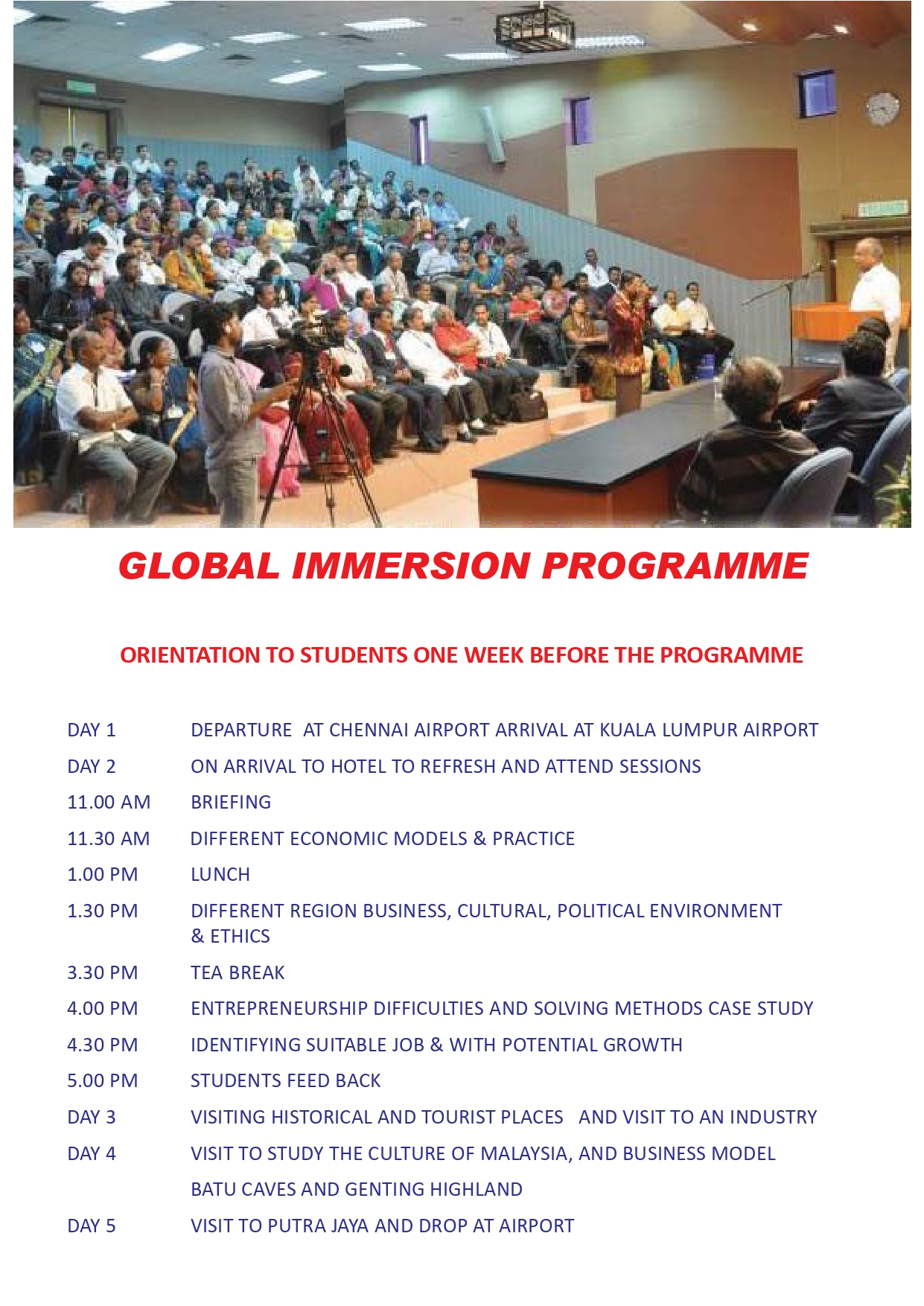 GLOBAL IMMERSION PROGRAMME
